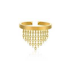 FRINGE FALL ADJUSTABLE RING