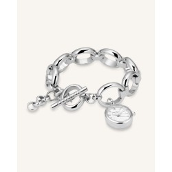 The Oval Charm Chain Argento